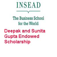 INSEAD Deepak and Sunita Gupta Endowed Scholarship