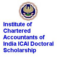 Institute of Chartered Accountants of India ICAI Doctoral Scholarship Scheme