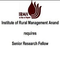 Institute of Rural Management Anand Senior Research Fellowship