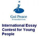 The Goi Peace Foundation International Essay Contest