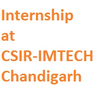 Internship at CSIR-IMTECH Chandigarh