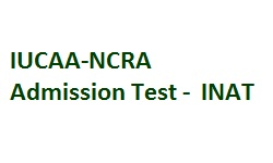 IUCAA-NCRA ADMISSION TEST INAT - 2018