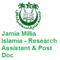 Jamia Millia Islamia Research Assistant Post Doc