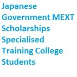 Japanese Government MEXT Scholarships Specialised Training College Students