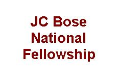 JC Bose National Fellowship