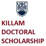 KILLAM DOCTORAL SCHOLARSHIPS Offered By University of British Columbia