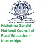Mahatma Gandhi National Council of Rural Education Internships - 60 Nos