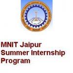 Malaviya National Institute of Technology Jaipur Summer Internship