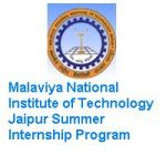 Malaviya National Institute of Technology Jaipur Summer Internship Program