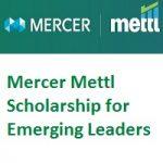 Mercer Mettl Scholarship For Emerging Leaders