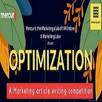 Mercur-I, Marketing club of IIM Indore & Marketing Lake Marketing Article Writing Competition