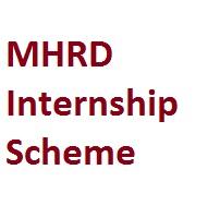 MHRD Internship Scheme