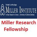 Miller Institute for Basic Research in Science-Miller Research Fellowship