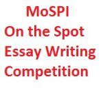 MoSPI On the Spot Essay Writing Competition