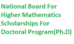 National Board for Higher Mathematics Scholarships For PhD