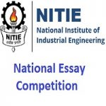 National Essay Competition-2019 organized by NITIE Mumbai