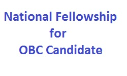 National Fellowship for OBC Candidate