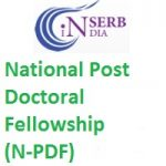 National Post Doctoral Fellowship (N-PDF)