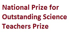 National Prize for Outstanding Science Teachers Prize 2018