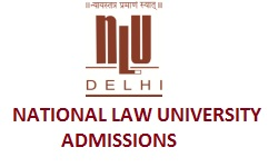 National Law University-Admission Notice 2019-2020