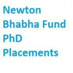 Newton Bhabha Fund PhD Placements