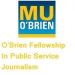 OBrien Fellowship In Public Service Journalism