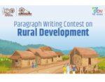 Paragraph Writing Contest on Ideas on Constructive works of Mahatma Gandhi - Rural Development