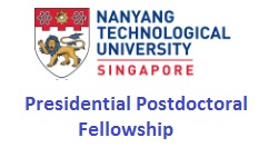 Presidential Postdoctoral Fellowship at NTU