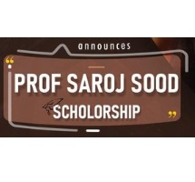 Prof. Saroj Sood Scholarship Scheme