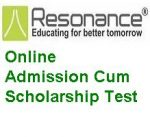 Resonance Online Admission Cum Scholarship Test
