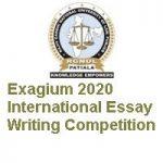 RGNUL Punjab Exagium 2020 International Essay Writing Competition