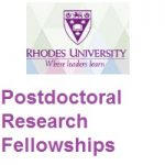 Rhodes University Postdoctoral Research Fellowships