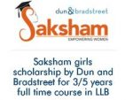 Saksham Dun and Bradstreet Girls Scholarship Programme