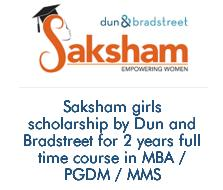 Saksham Dun and Bradstreet Girls Scholarship programme for MBA/PGDM