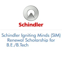 Schindler Igniting Minds (SIM) Renewal Scholarship for B.E. B.Tech