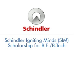 Schindler Igniting Minds (SIM) Scholarship for B.E. & B.Tech