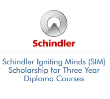 Schindler Igniting Minds (SIM) Scholarship for Three Year Diploma Courses