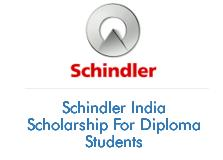 Schindler India Scholarship For Diploma Students