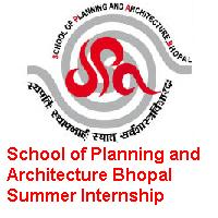 School of Planning and Architecture Bhopal Summer Internship