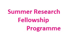 Summer Research Fellowship Programme 2019