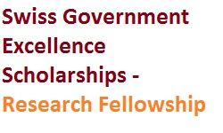 Swiss Government Excellence Scholarships - Research Fellowship