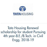 Tata Housing Renewal Scholarship For Student Pursuing 4th year-B.E./B.Tech