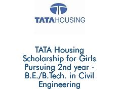 TATA Housing Scholarship for Girls For B.E-B.Tech In Civil Engineering