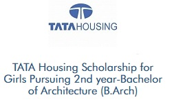 TATA Housing Scholarship for Girls Studying B.Arch
