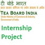 Tea Board India Kolkata Internship Project