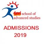 TERI School of Advanced Studies Admissions
