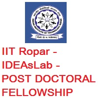 The IDEAs Laboratory In IIT Ropar Post-Doctoral Research Associate