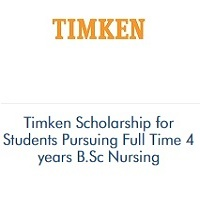 Timken Scholarship for Students Pursuing Full Time 4 years B.Sc Nursing