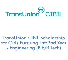 TransUnion CIBIL Scholarship for Girls Pursuing 1st/2nd Year - Engineering