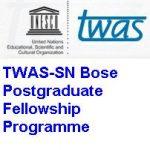 TWAS-SN Bose Postgraduate Fellowship Programme